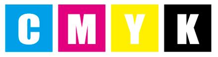 CMYKとは「シアン(水色)」「マゼンタ(濃いピンク)」「イエロー」「ブラック」の4色